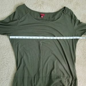 Merona Tops - 🎃Merona Olive Green Zipper Detail Blouse Size XXL